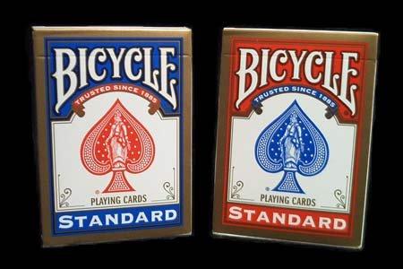 Jeu Bicycle (format poker) par 72 (36 Rouges/36 Bleus)