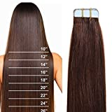 """16""""-22"""" 100% Remy Hair Real Natural Tape in Human Hair Extensions 7A Skin"""