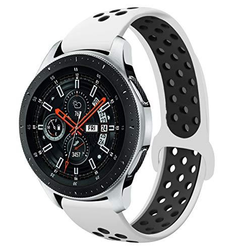 YaYuu 22mm Universal Samsung Galaxy Watch 46mm/Gear S3 Frontier/Classic Armband, Silikon Uhrenarmband Sportarmband für Moto 360 2nd Gen 46mm/Huawei Watch GT/Watch 2 Classic/Ticwatch Pro Smart Watch - 46 Silikon