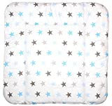 Baby Auflage Wickelauflage - STAR BLAU-GRAU - 70x50 cm 70x70 cm 70x85 cm Wickeltischauflage 70x70 cm
