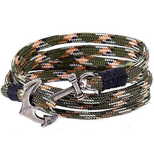 Armband,Armband Charms Männer Frauen Mode nautische Marine-Legierung Woven Nylon Armband Armband 10 Stück,Das Armband der Liebe