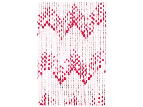 Unbekannt Silly Perlen-Vorhang, Plastik, rot