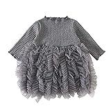 Saingace(TM) Babykleid Mädchen Kleid,Baby Kinder MäDchen Stricken Bogen Tüll Prinzessin Tutu Ballkleid Party Kleid Kleidung