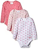 Twins Unisex Baby Langarm-Body im 3er Pack, Gr. 56, Mehrfarbig (rosé 132804)