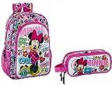 Minnie Mousse Disney Rucksack 42x33x14 Schulrucksack + Schlamper Etui (115)