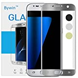 Bywin 3D Incurvé Protection écran en TPU pour Samsung Galaxy S7 (Silver) Ultra-mince 0.2 mm Meilleur Film Protégé en Plastique de (Not Tempered Glass Screen Protector) (non vitre verre trempé )