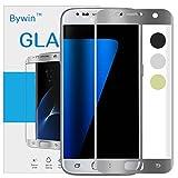 Bywin 3D Incurvé Protection écran en TPU pour Samsung Galaxy S7 (Silver) Ultra-mince 0.2 mm Meilleur Film Protégé en Plastique de (Not Tempered Glass Screen Protector) (non vitre verre trempé )
