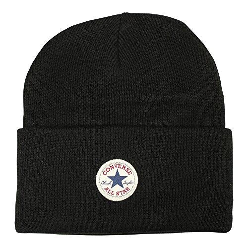 Converse Erwachsene Tall Cuff Knit Beanie Black, One Size