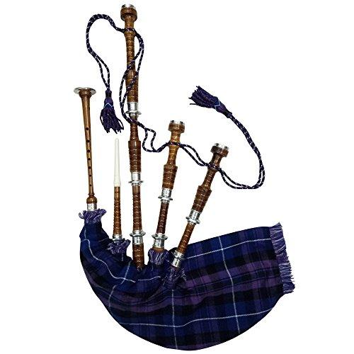 AJW Pride of Schottland Dudelsack Palisander mit Silber Halterungen frei Dudelsack Tragetasche