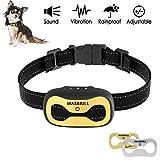 MASBRILL 2in1 Anti-Bell-Halsbänder - Hunde Trainingshalsband für Kleine und Mittelgroße Hunde mit Vibration Kontrolle übermäßigem Bellen Antibell Halsband Sicher und Human Ohne Schock