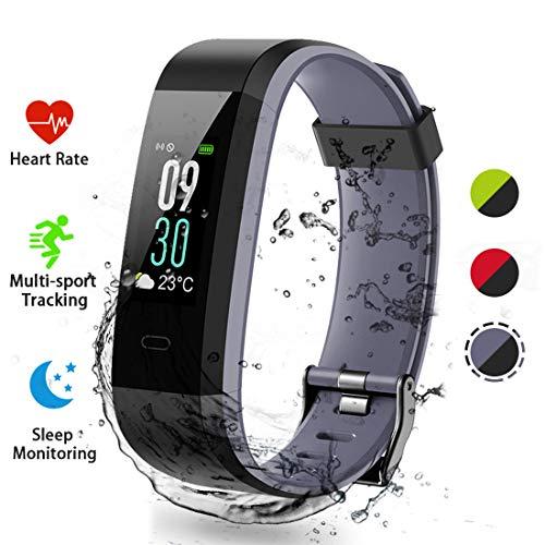 Lacyie Fitness Tracker Orologio Fitness Activity Tracker Smartwatch Cardiofrequenzimetro da Polso Donna Uomo Impermeabile IP68 Smart Watch Braccialetto Fitness per Android iOS Smartphone