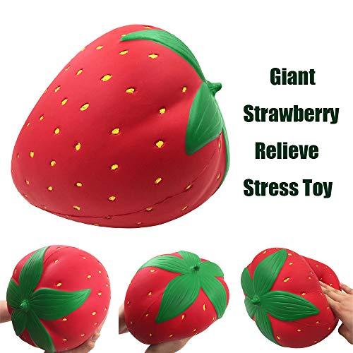 Cooljun Groß Jumbo Super riesige Weiche Wassermelone Orange Erdbeer Pfirsich Langsam Steigende Squeeze Dekoration Halloween Weihnachten Geschenk für Mädchen Jungen ()