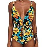 8ca9b3fbeb3a Costumi da Bagno Interi Snellenti Donna Costume Intero Monospalla Schiena  Scoperta Bikini Spiaggia Fascia Costumi Monokini
