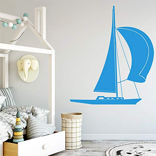 BFMBCH Moderne schiff wandaufkleber kunst applique dekoration mode aufkleber dekoration wohnzimmer schlafzimmer kunst wandaufkleber 58cm x 68cm