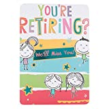 Hallmark-Biglietto di auguri per la pensione 'ci occuperemo Miss You', misura M