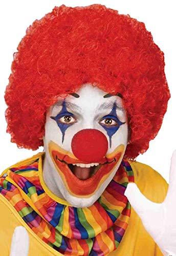 Forum Novelties Clown Afro Perücke Kostüm Zubehör (eine Größe, rot)