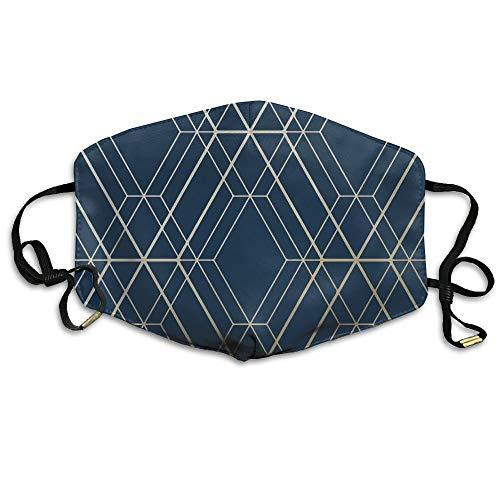 Monicago Einzigartige Unisex-Mundmaske, Gesichtsmaske, Midnight Blue Dark Navy Face Mask, Reuseable Polyester Face Mouth Mask Respirator For Cycling Anti Dust For Unisex Men Women ()