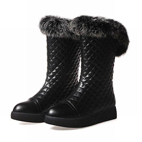 Mee Shoes Damen hidden heel halbschaft runde Schneestiefel Schwarz