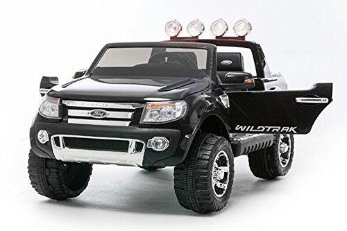 Lizenz Kinderauto Ford Ranger 2 x 35W 12V MP3 RC Elektroauto Kinderfahrzeug Ferngesteuert Elektro Auto (Schwarz)