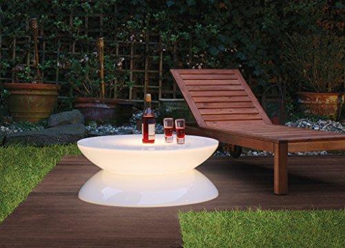Moree - lampe lED de sol Lounge LED Pro extérieur, transparent/blanc, plastique, 04 - 08 - 02