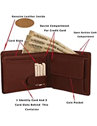 MOOCHIEF TAN Men Genuine Leather Wallet (8 Card Slots)