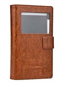 Jo Jo Cover Corbett Series Leather Pouch Flip Case For Vivo X5Max Dark Brown