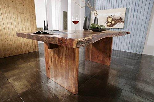 Akazie Massivholz Möbel Baumtisch 250×110 Massivmöbel massiv Holz lackiert Landhausstil walnuss Freeform #105