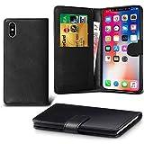 Lapinette Schutzhülle Wallet-Etui für Apple iPhone XS schwarz