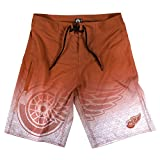 klew NHL Detroit Red Wings Farbverlauf Board Shorts, Medium, Rot