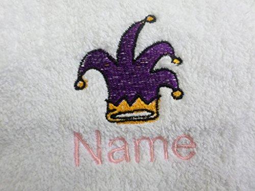 l mit Kapuze oder weiß Kapuzentuch mit einer Jesters Hat Logo und Namen Ihrer Wahl., 100 % Terry-Baumwolle, weiß, Hooded Towel 0-5 years (Jester Mädchen)