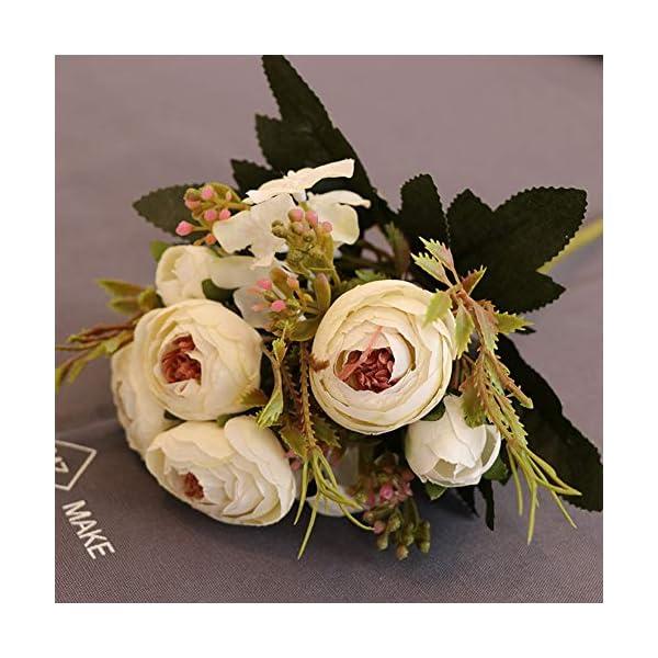 PokYr25eb Flores Artificiales, 1 Pieza de Camelia Artificial para el hogar, jardín, Boda, Fiesta, decoración, Color…