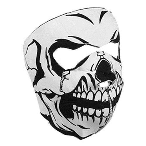 Zan Headgear WNFM002 Neoprene Full Face Mask, Glow In The Dark Skull by Zanheadgear