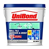 UniBond 1616625 Triple Protect Wall Tile Adhesive and Grout - White