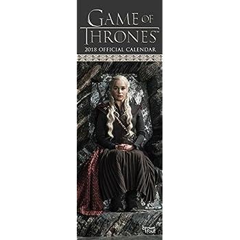 Official Game of Thrones 2018 Slim Calendar