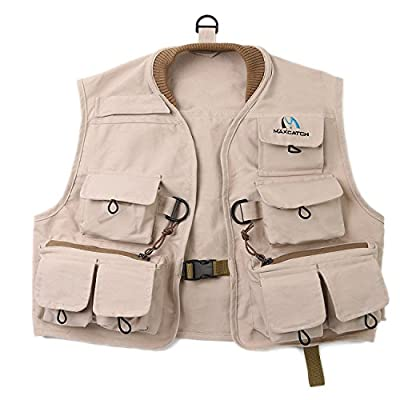 Maxcatch Kids Fly Fishing Vest Youth Vest Pack, 100% cotton from Maxcatch