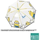 Parapluie coupe-vent bulle transparente Sbires d'ouverture de sécurité 42cm