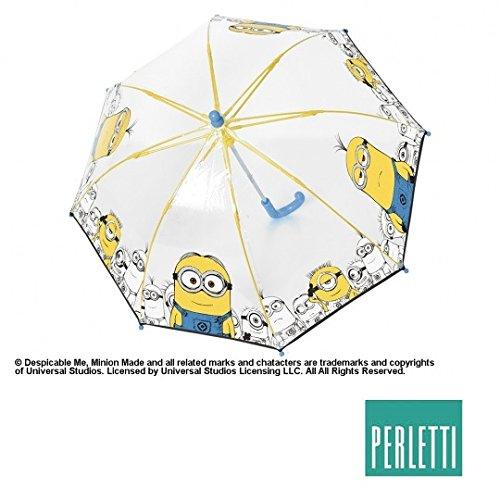 Ombrello Trasparente a Cupola MINIONS - Apertura Manuale - 42 Cm