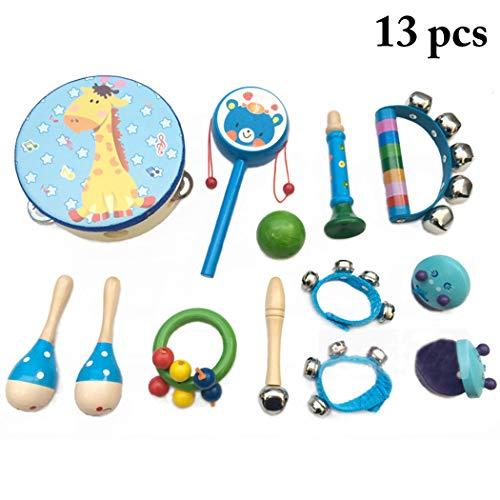 Joyibay 13PCS Kinder Musikinstrument Spielzeug Pädagogisches Musikspielzeug Instrument Spielzeug