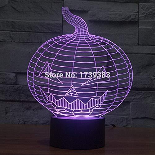 echsel Halloween bösen kürbis 3D led nachtlicht USB led dekorative tischlampe Schreibtisch Stimmung Beleuchtung ()