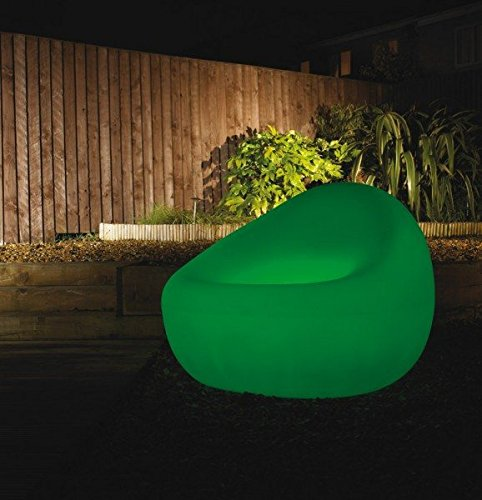 Pentium Lighting LED sillón de diseño fabricado en Inglaterra, iluminación LED (7 colores), incl.