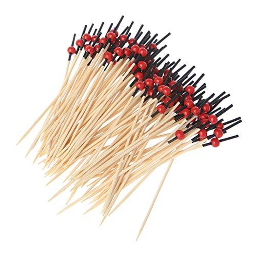 WINJEE, 100pcs Perlas Coctel de bambú Selecciones...