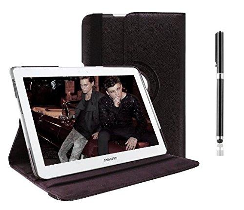 inShang Hülle für Samsung Galaxy tab Tab2 10.1 (P5100/ P7500)Tablet Case Cover, Edles PU Leder Tasche Hülle Skins Schutzhülle, 360 Grad rotierende Schutzhülle mit Standfunktion + inShang Logo hochwertigen Stylus Eingabestift Stift
