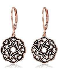 Amazon Collection Argento sterling 925 Placcato oro-argento; Modello senza gemma