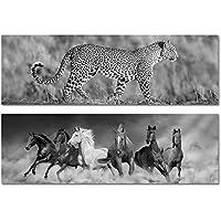 Home Line Cuadro Lienzo x2 Modelos Wild Animals 140 cm 2365503DC