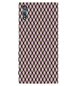 For Sony Xperia XZ beautiful pattern ( beautiful pattern, pattern, pattern backgrou, triangle ) Printed Designer Back Case Cover By TAKKLOO