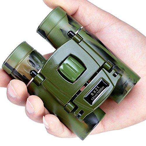 C-Xka Binoculares de Bolsillo Plegables Mini telescopio de Viaje Compacto HD Bak4 Óptica Enfoque Fácil