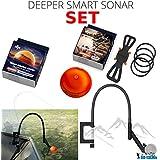 Deeper Smart Sonar Pro + Plus - Set de accesorios para smartphone (incluye soporte para smartphone, funda para pesca nocturna