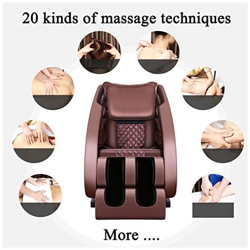 WDDP Elettrico Poltrona da Massaggio gravità Zero, Poltrona Massaggiante Shiatsu, con Suono Surround 3D, Massaggiatori Ad Aria, Sedia da Massaggio Musicale Bluetooth Multifunzione