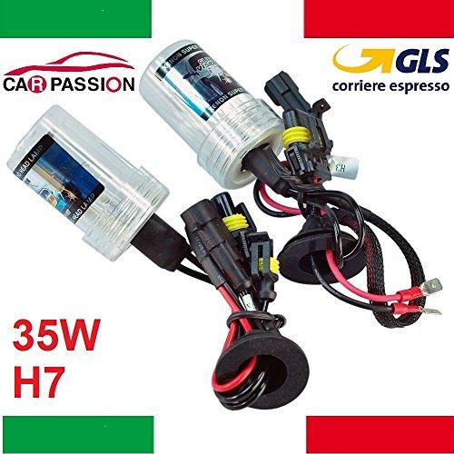 Coppia lampade bulbi kit XENO xenon H7 35w 4300k 12v lampadina luce HID ricambio fari
