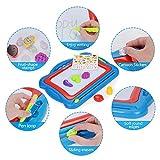 NextX Große Magnetische Maltafel für Kinder ab 3 Jahren - Pädagogische Spielzeug-Geschenkset mit 5 Form-Stempeln und schönen Aufklebern von NextX